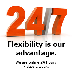 At your service 24 hours 7 days a week